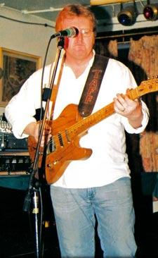 Taff Martin with his Tele